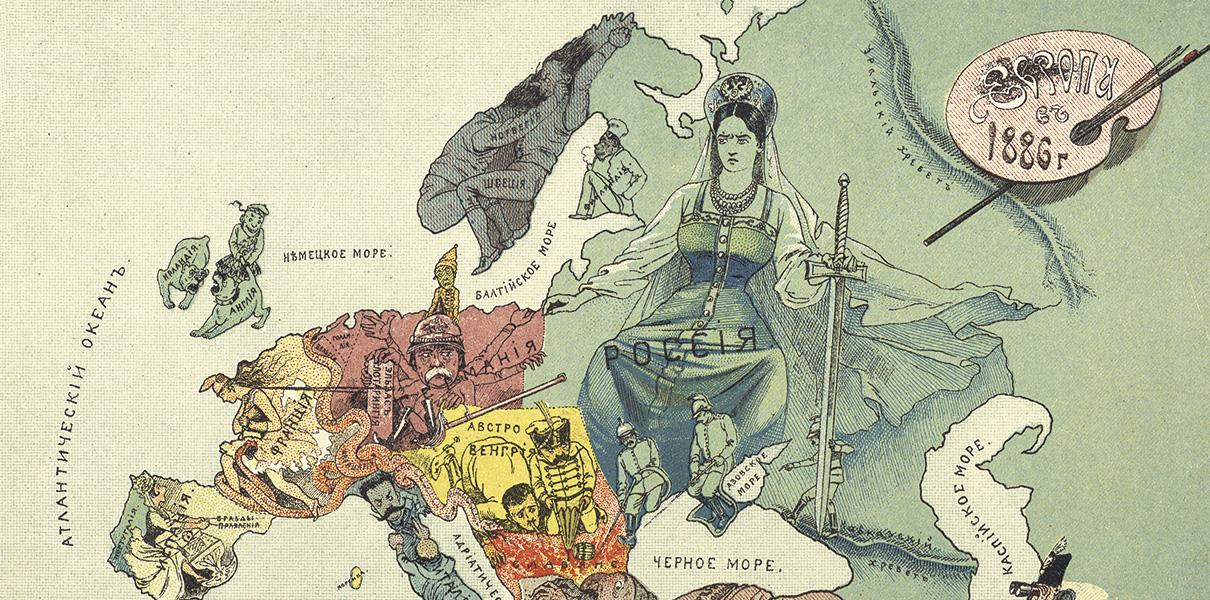 Humoristische Karte Von Europa 1914.Zverinyj Oblik Pervoj Mirovoj Vojny